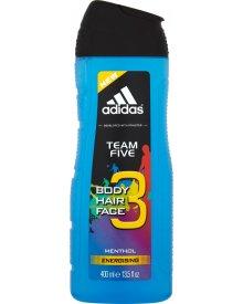 Adidas Team Five 3 Żel pod prysznic do ciała włosów i twarzy 400 ml