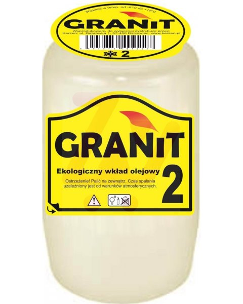 Granit 2 Wkład do zniczy olejowy, czas palenia 2,5 dnia 130g