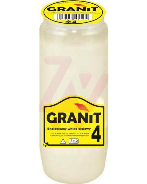 Granit 4 Wkład do zniczy olejowy, czas palenia 4 dni 210g