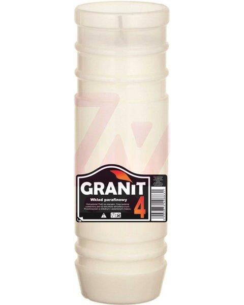 Granit 4D Wkład do zniczy parafinowy, Czas palenia 4dni, 17,5cm 200g