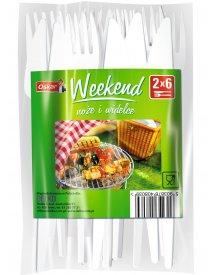 OSKAR Weekend 2X6 szt. noże i widelce 12szt