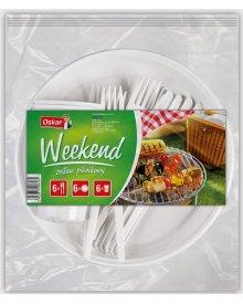 OSKAR Weekend zestaw 6x4szt dla 6osób