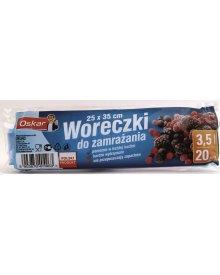 OSKAR Woreczki do zamrażania 3,5L 20szt