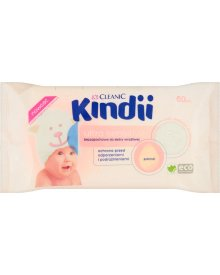 Cleanic Kindii Ultra Sensitive Chusteczki bezzapachowe do skóry wrażliwej 60 sztuk