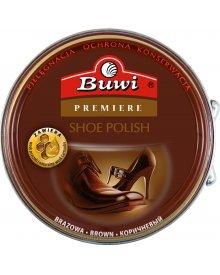 BUWI Premiere pasta stała do obuwia brązowa 40 g