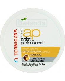 Bielenda Artisti Professional Repair Keratin Maska termiczna do włosów suchych i zniszczonych 200g