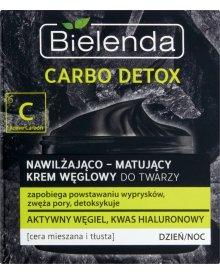 Bielenda Carbo Detox Krem węglowy nawilżająco-matujący na dzień i noc 50ml