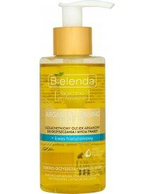 Bielenda Argan Cleansing Face Oil Olejek do mycia twarzy z kwasem hialuronowym 140ml