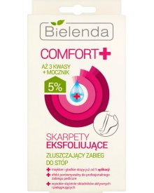 Bielenda Comfort+ Skarpety eksfoliujące do stóp 1op.