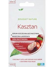 Bielenda Kasztan serum uszczelniające naczynka 5g+maseczka łagodząca 5g