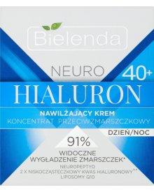 Bielenda Neuro Hialuron 40+ Krem-koncentrat nawilżający przeciwzmarszczkowy na dzień i noc 50ml