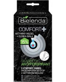 Bielenda Comfort+ Zabieg 2-etapowy do stóp z aktywnym węglem - skarpety antyperspirant 1op.