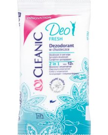 Cleanic Deo Fresh Dezodorant w chusteczce 12 sztuk