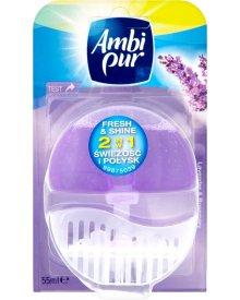Ambi Pur 2 w 1 Świeżość i Połysk Lavender and Rosemary Odświeżacz w płynie do toalet 55 ml