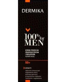 Dermika 100% for Men 50+ Krem przeciw zmarszczkom i bruzdom dzień noc 50 ml