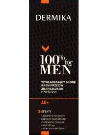 Dermika 100% for Men 40+ Wygładzający skórę krem przeciw zmarszczkom dzień noc 50 ml