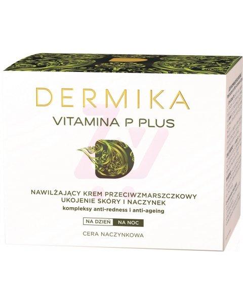 Dermika Vitamina P Plus Nawilżający krem przeciwzmarszczkowy na dzień i na noc 50 ml
