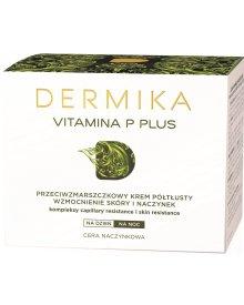 Dermika Vitamina P Plus Przeciwzmarszczkowy krem półtłusty na dzień i na noc 50 ml