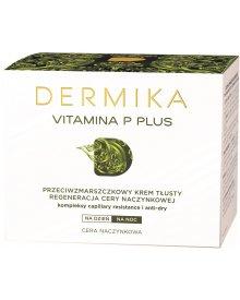 Dermika Vitamina P Plus Przeciwzmarszczkowy krem tłusty na dzień i na noc 50 ml