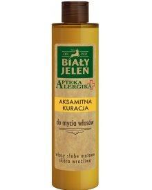 Biały Jeleń Apteka Alergika Aksamitna kuracja do mycia włosów 250ml