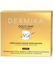 Dermika Gold 24k Total Benefit Nocne Odmładzanie krem-maska na noc 50ml