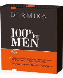 Dermika zestaw 100% for Men 50+ krem na dzień i noc 50ml+balsam po goleniu 40ml