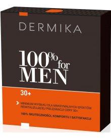 Dermika zestaw 100% for Men 30+ krem na dzień i noc 50ml+balsam po goleniu 40ml