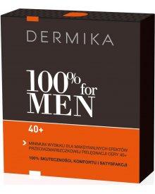 Dermika zestaw 100% for Men 40+ krem na dzień i noc 50ml+balsam po goleniu 40ml