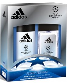 Adidas zestaw męski Champions League Arena spray 150ml + atomizer 75ml