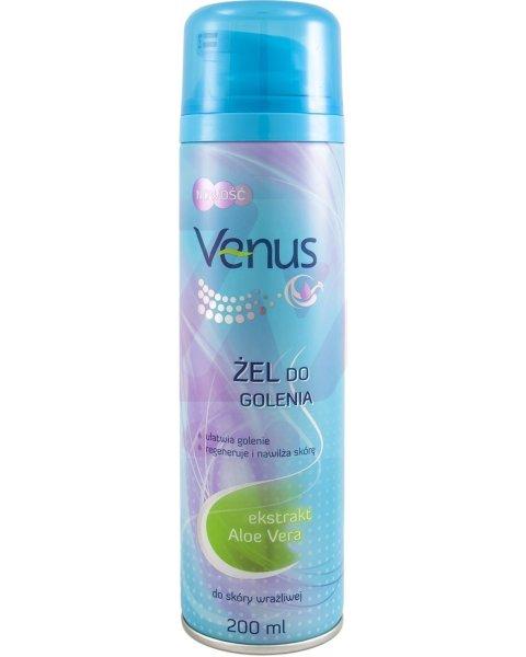 Venus Regenerujący żel do golenia do skóry wrażliwej Aloe Vera 200ml