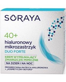 Soraya Hialuronowy Mikrozastrzyk Duo Forte 40+ krem wypełniający zmarszczki mimiczne na dzień i noc 50ml