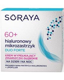 Soraya Hialuronowy Mikrozastrzyk Duo Forte 60+ krem wypełniający zmarszczki na dzień i noc 50ml