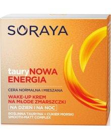 Soraya Taurynowa Energia Wake-Up krem przeciwzmarszczkowy cera normalna i mieszana na dzień na noc 50ml
