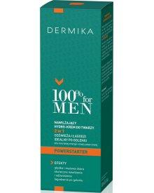 Dermika 100% for Men nawilżający hydro-krem po goleniu do twarzy 2w1 Powerstarter na dzień 100ml