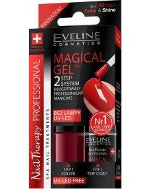 Eveline Magical Gel dwustopniowy system żelowego manicure nr 04 2x5ml