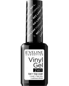 Eveline lakier winylowy + top coat 2w1 Vinyl Gel nr 200 12ml
