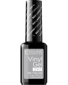 Eveline lakier winylowy + top coat 2w1 Vinyl Gel nr 201 12ml