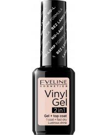 Eveline lakier winylowy + top coat 2w1 Vinyl Gel nr 202 12ml