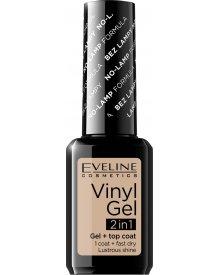 Eveline lakier winylowy + top coat 2w1 Vinyl Gel nr 203 12ml