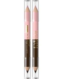 Eveline Eyebrow Pencil Duo Kredka do brwi i rozświetlacz pod łuk brwiowy 1szt