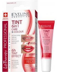 Eveline TINT CARE & COLOUR Serum do ust 6w1 red