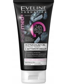 Eveline Facemed+ oczyszczająco-detoksykujący żel do mycia twarzy z aktywnym węglem 3w1 150ml