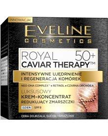 Eveline Royal Caviar Therapy 50+ krem-koncentrat redukujący zmarszczki na dzień SPF10 50ml