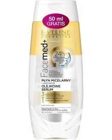Eveline Facemed+ płyn micelarny + odżywcze olejkowe serum 3w1 250ml