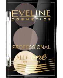 Eveline All in One profesjonalny zestaw do makijażu i stylizacji brwi nr 01 1szt