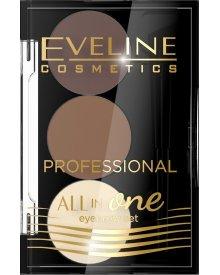 Eveline All in One profesjonalny zestaw do makijażu i stylizacji brwi nr 02 1szt