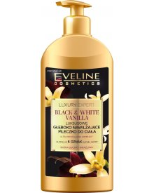 Eveline Luxury Expert Black & White Vanilla luksusowe głęboko nawilżające mleczko do ciała 350ml