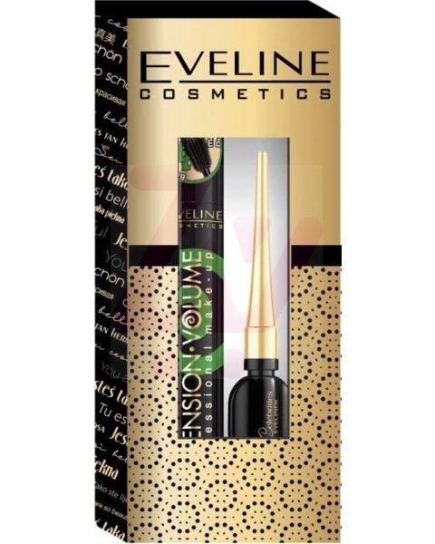 Eveline zestaw tusz do rzęs Extension Volume 10ml + eyeliner Celebrities 1 op.