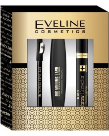 Eveline zestaw tusz do rzęs Big Volume Lashes 10ml + korektor do brwi 5w1 + konturówka do oczu Eyeliner Pencil