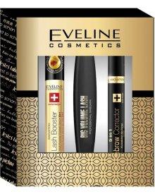 Eveline zestaw tusz do rzęs Big Volume Lashes 10ml + korektor do brwi 5w1 + serum do rzęs 10ml